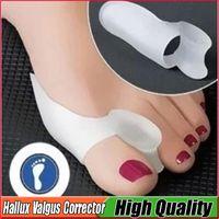 Wholesale Stretcher Silicone - Hallux Valgus Corrector Silicone Gel fingers Toe Separator Feet Care Toe Separator Bunion Aid Toe Stretcher Straightener Free DHL