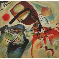 modern soyut siyah yağlıboya tablolar toptan satış-Renkli modern soyut resim sergisi Wassily Kandinsky Resim Ile Bir Siyah Arch oil on canvas el yapımı Yüksek kalite