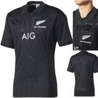 Wholesale Special Shirts - New Zealand top Thai quality 2017 18 New Zealand All Blacks Rugby Jerseys 17 18 All Blacks Territory rugby shirts special edition size S-3XL