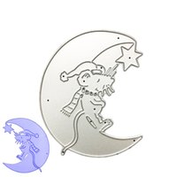 Wholesale Paper Mice - Moon Mouse DIY Metal Cutting Dies Stencil Scrapbook Card Album Paper Embossing Craft
