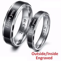 Wholesale Carbide Engraving - Free Shipping Personalized Outside Inside Engraving Tungsten Carbide Wedding Band Ring 6MM 8mm High Polisheded Engagement Ring Size 5#-15#