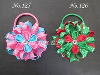 Wholesale Free Style Nest - Children Hair Accessories Free Shipping 20pcs Blessing Good Girl Modern Style A -Bird 'S Nest Floral Hair Bow Elastic Hair Band 158 No .