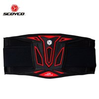 cintos de segurança de corrida venda por atacado-Atacado- Scoyco U08 Motocross Corrida de Motocross Cintura Suporte Esportes Safety Kidney Belt Protective Gear Protector - Cor Vermelho Azul