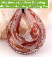 Wholesale Unique Beaded Necklaces - Wholesale-1pc style Fashion unique lampwork Murano art glass beaded pendant necklace p588-593