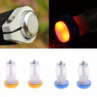 Vente en gros - 1Pair Safety Cycling Bike Turn Signal Handle Bar End Plug LED Lampe rouge Lampe Hot Sale