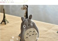 Wholesale Kawaii Id Card - Wholesale- KAWAII 3D NEW MY Neighbor TOTORO Purse ; Neck Phone Pouch BAG CASE + ID & Bus Cards Holder Case Coin Purse Wallet Pouch Case