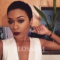 Wholesale Black Celebrity Lace Front Wigs - 100% Human Natural Hair Celebrity Wigs Full Lace Front Natural Black Lace Front Wig Human Glueless None Lace Wig For Black Women