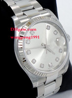 """Wholesale Oyster Watches - Men Bracelet WatchLuxury men High Qualit Watch 116234 36mm Oyster bezel Stainless Steel bracelet White dial Automatic men""""s Watch Watches"""