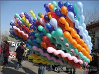 Wholesale Spiral Screw Balloon - 1000pc Hot Sale Spiral Balloon Screw Twist Ball Eight Ball Balloons For Wedding Birthday Party Christmas Kids toys #95G