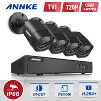 Wholesale Home Surveillance Dvr - ANNKE HD 4CH 4PCS 1080N DVR 720P HD Outdoor Indoor Monitor IR CUT Night Vison Waterproof Camera Home Surveillance System