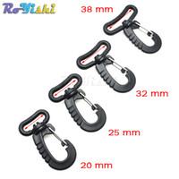 Wholesale Hook Plastic Buckle - 100pcs lot Plastic Swivel Snap Hook For Backpack Belt Strap Buckle Keychain Black