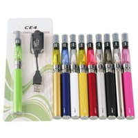 Wholesale Single Vaporizer - e cig eGo CE4 starter kit Single CE4 Blister Kits 650mah 900mah 1100mah EGO-T Battery CE4 Clearomizer Atomizer vaporizer vape pen DHL