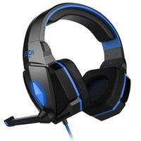 Wholesale Stretch Sound - Sound Intone G4000 LED 3.5mm Stereo Gaming Headphone Stretching Adjustable Headset Headband with Microphone and Volume Control for PC Comput
