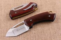 Wholesale Browning Eagle - BROWNING Little Eagle D2 blade EDC Folding Pocket Knife Handle Camping Hunting Knife back Lock xmas gift knife for man 1pcs