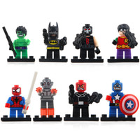 Wholesale Building Blocks Free - top selling Super hero Mini Building Blocks figures Baby Brick toy Kids Gift from shenzhen free shipping