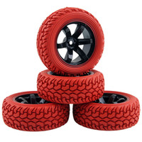 Wholesale hsp rc tires - RC HSP HPI 701A-8019R Rubber Tire&Plastic Wheel Rim For 1 10 On-Road Rally Car