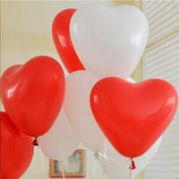 Wholesale ball shaped balloons resale online - 1 g Heart Shaped Balloon Latex Balloon Multicolor Balloon Festival Celebration Decoration Toy Ball Gifts Wedding Birthday Party Supplies
