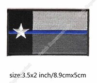 Linea blu sottile Texas State Tactical USA Bandiera USA BIKER VEST PATCH Badge Grigio Ricamo Moto MILSPEC DARK OPS SWAT