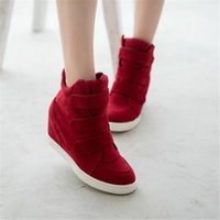 Wholesale Leopard Wedges For Women - Wholesale-New shoes woman 2016 Brand Boots Women Fashion Ankle Boots for Women wedges women shoes Leopard Suede Heels Casual Shoes X230