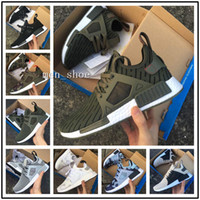 Wholesale Discount Socks Free Shipping - (With Box) Discount cheap new NMD XR1 Duck Camo X City Sock Pk Wool Boost Top quality Fashion Running Shoes For men Free Shipping Size 36-45