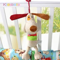 Wholesale Musical Dog Baby Toys - Wholesale- Musical Dog Baby Toys Crib Bed Hanging Bell Brinquedos Intelligence Development Multifunctional Infant Baby Toys 0-12 Months