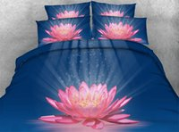 Wholesale Sunflower 3d Bedding Sets - 7 Different Styles Pink Flower 3D Printed Bedding Sets Twin Full Queen King Size Bedspreads Bedclothes Duvet Covers Sunflower Lotus 3 4PCS