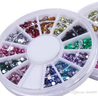 Wholesale Diamond Tips Nails - Nail Art Glitter Tip 2mm Acrylic diamond DIY Rhinestone Deco With Wheel,Beauty Nail Art Accessories Dec,1200pcs set