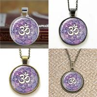 ingrosso zen gioielli-10pcs Om Namaste Yoga gioielli Lotus Zen ispirato collana portachiavi segnalibro gemello braccialetto orecchino