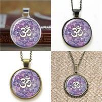 Wholesale namaste necklace - 10pcs Om Namaste Yoga Jewelry Lotus Zen inspired Necklace keyring bookmark cufflink earring bracelet