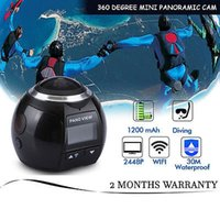 Wholesale Dvr 32 - Sport Camera 360 4K HD Recorder Panoramic Camera Ultra Mini Wifi DVR Video Waterproof action Camera