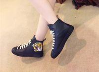 ingrosso gli stivali di cuoio delle donne dell'anca-Famose scarpe in vera pelle cranio Hip Hop uomini e donne scarpe casual stivali 35-45