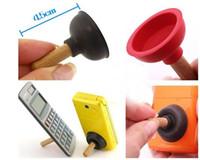 handystand freies verschiffen großhandel-500 teile / los RA Nette Mini Pump Wc Stand Halter Saugnapf Halter Für Handy Handy 4 Kostenloser Versand 0001