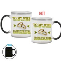 Wholesale China Wife - Wholesale- To My Wife   Husband mug magic color changing coffee mug Wedding anniversary gifts, best gift for your wife or husband