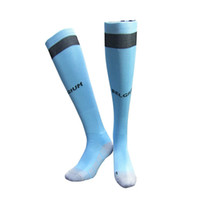 Wholesale Stocking Football Socks - ^_^ Wholesale 2016 Belgium home away soccer socks top quality thick towel socks Antiskid Socks Soccer Knee High Football Long Stocking