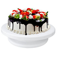 Wholesale Cake Rotating Stand - 1 piece of high quality good for use Cake Turntable 360 Degree Rotating Cake Stand Decorating Turntable