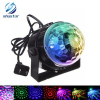 Compra Luci Di Nozze Sane-All'ingrosso- 9 effetti luminosi DISCO BALL PARTY LIGHTS Suono attivato Stage Light Show per feste DJ Karaoke Wedding Chrismas Outdoor