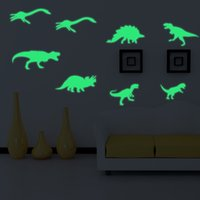 Wholesale dinosaur stickers - Creative PVC Mural Removable Moisture Proof Anti Static Paster Luminous Dinosaur Pattern Wall Stickers Factory Direct Sale 7 5gf B