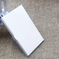 Wholesale Metal Name Business Card Case - Hot Silver Pocket Business Name Credit ID Card Holder Metal Aluminum Box Cover Case