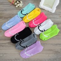 Wholesale Cute Socks Price - Wholesale- 5 pairs lot Candy Color Women Cute Socks Low Cut Smile Face Slippers Low Price Sock Cotton