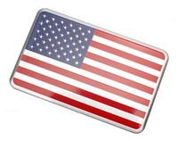 jeep-logo-aufkleber großhandel-Amerikanischer US-amerikanischer US-Flaggen-Autoaufkleber-Emblem-Abzeichen-Auto-Stylingaufkleber des Metall 10pcs / lot für Jeep / Bmw / Fiat / VW / Ford Audi / Honda / Toyota Lada