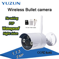 Wholesale Outdoor White Cctv Camera - 720P 1080P P2P white night vis wireless Home security mini bullet baby cctv monitor IP66 waterproof wifi ip outdoor camera with wifi hotspot