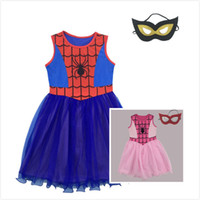Wholesale Dance Mask Princess - 2 Style Girl Princess Dress Skirt + Mask Set Halloween cosplay Cartoon Girl Dresses Dance Performance Dresses Children's Dresses JC252