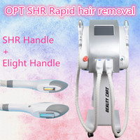 Wholesale Two Lift - Best selling Two handles IPL SHR home laser hair removal beauty machine Best Professional SHR with 300000shots