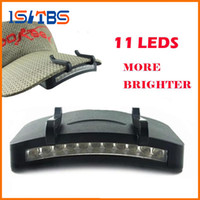 Wholesale Light Clips Hat - Z30 super Bright 11 LED cap light Headlight HeadLamp head Flashlight head Cap Hat Light Clip on light Fishing head lamp