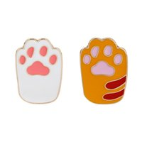 Wholesale rhinestone paw print - Dog Cat Paw Print Lapel Pin Pet Footprint Animal Lover Brooch Gift for Him Tie Tack Dog Lover Unisex Brooches Pin Jewelry christmas GIFT