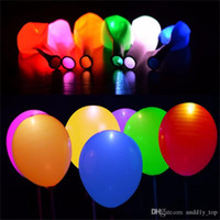 Wholesale Toy Balloons - Light up balloons Flash LED Light Balloon For Wedding Celebration Party Bar Decoration Light Up balloon flashing balloon 500pcs UP