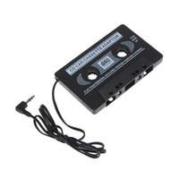 lecteur mp3 cassette usb achat en gros de-Voiture Cassette Câble Adaptateur Classique Noir Voiture Cassette Adaptateur Lecteur pour Vieille Voiture Compatible avec Cellphones iPod MP3 Playe Avec le Détail Pack