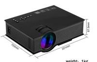 Wholesale Hdmi Vga Brand - brand New UNIC UC46 LCD Projector 1200 Lumens 2.4G WiFi Wireless Portable LED Home Theater Cinema Multimedia 1080P USB SD AV HDMI VGA