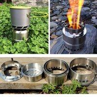 outdoor cooking gear - Outdoor Gear Lightweight Portable Stainless Steel Camping Stove Cooking Picnic BBQ Charcoal Wood Stove Alcohol Stove