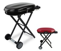 black kitchen trolley - Portable gas Grills with Foldable Trolley Cart for Camping Outdoor Kitchen Equipment Black